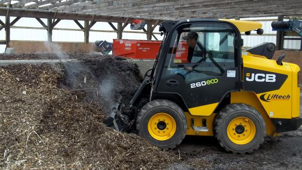 New York village relies on material handler in composting operation