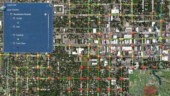 Montana city uses GIS to examine stormwater system