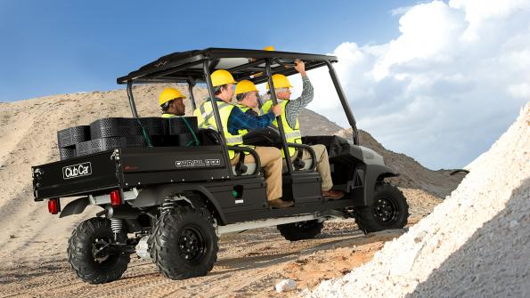 Utility vehicles on display in traveling road show (with related video)