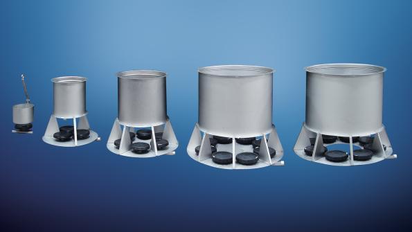 Air-powered mixer offers no-clog operation
