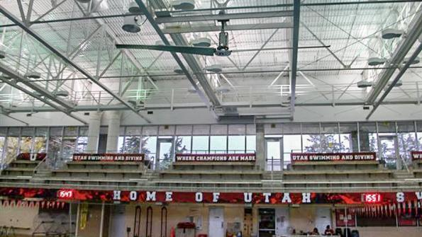 Air movement system helps university swimming pool pass smell test