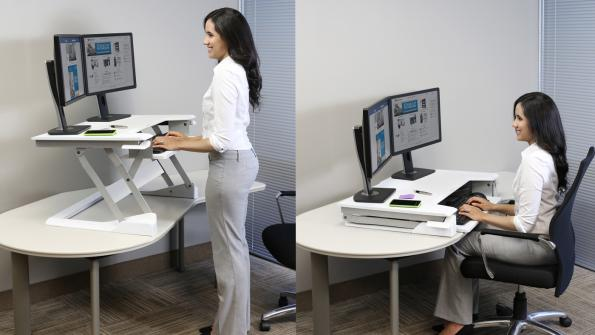 Poll respondents taking a stand on standing desks (with related video)