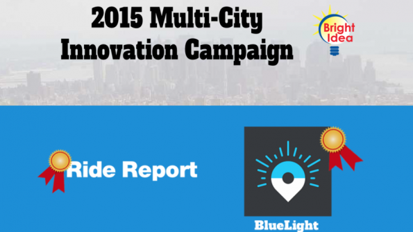 NLC names Bluelight and Ride Report as top city tech solutions in contest