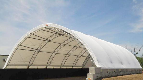 Kansas county boosts road salt storage with fabric structures