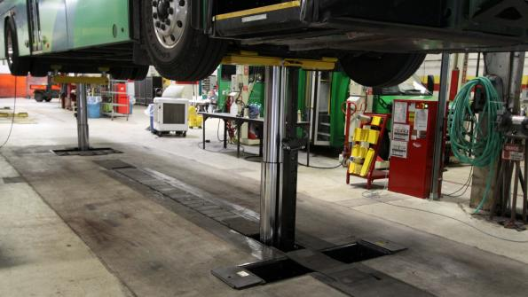 Vehicle lifts in Ohio transit facility resist corrosion
