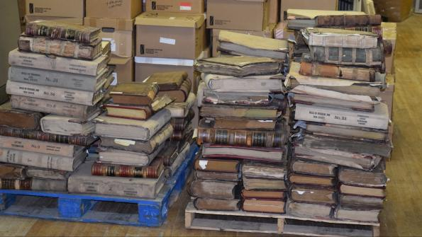 New York county salvages 1,700 storm-damaged boxes of court records