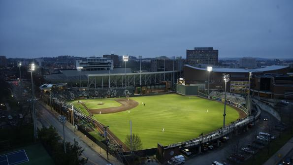 Energy-saving LEDs light up college baseball diamond (with related video)