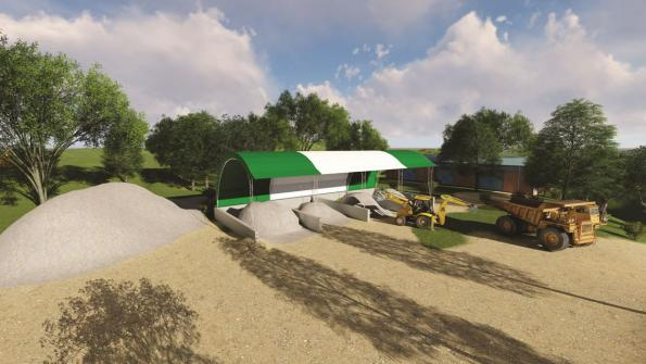 Governments can use this fabric building for bulk storage (with related video)