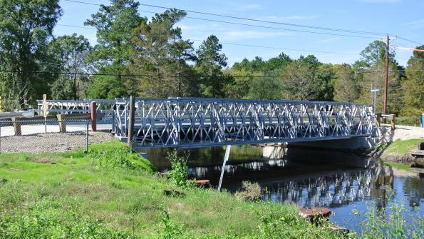 Prefab bridges speed infrastructure repairs in Louisiana