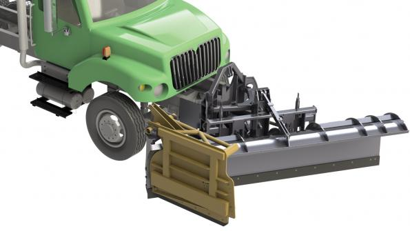 Snow-clearing tool enables precise plowing (with related video)