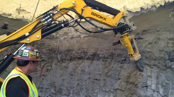 Remote-controlled machine quickly excavates for D.C. tunnel construction