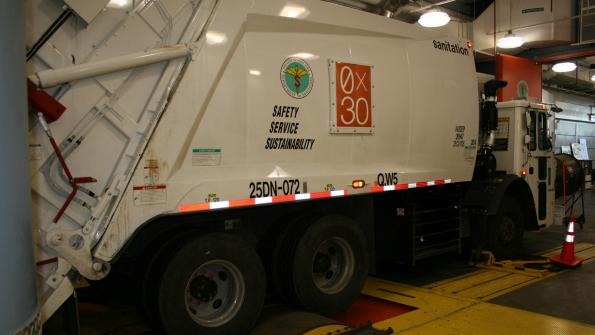 Clean biodiesel fuels NYC garbage trucks