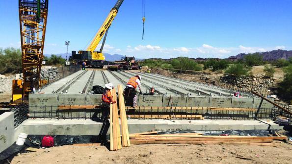Precast concrete speeds California bridge replacement