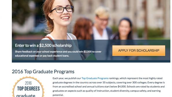 Robust site offers insight into graduate programs