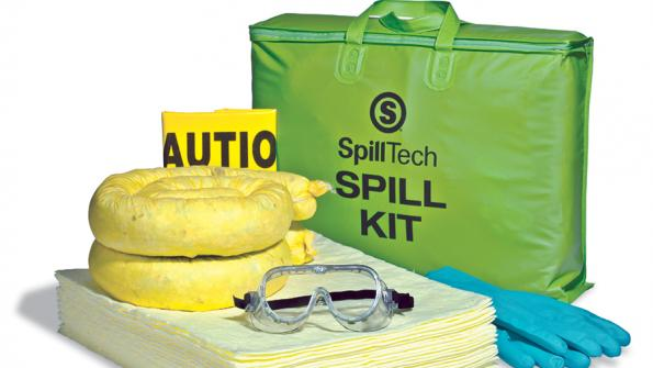 Kit helps contain and absorb liquid spills