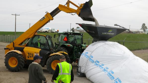 South Dakota DOT uses grain bags for salt storage