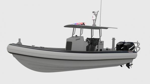 Boat performs law enforcement and other municipal tasks