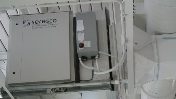 Dehumidifier helps improve swimming pool air quality in the Hawkeye State