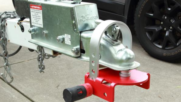 Coupler lock helps halt trailer theft