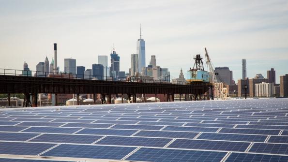 Clean energy project: Solar installation at Brooklyn Navy Yard