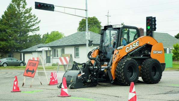 Use this skid steer for heavy-duty earthmoving and other tasks