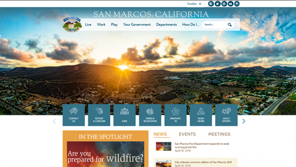 Revamped website reflects reshaped community in San Marcos, Calif.