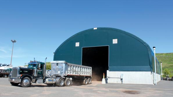 Fabric buildings meet a variety of waste management needs (with related video)