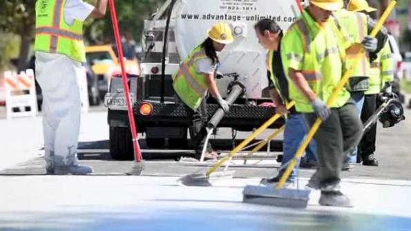 White streets in LA combat the 'heat island' effect