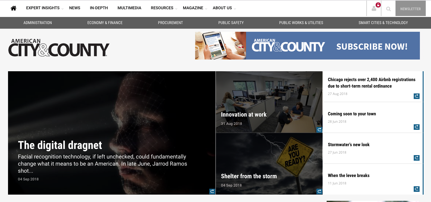 Welcome to the new American City & County.com
