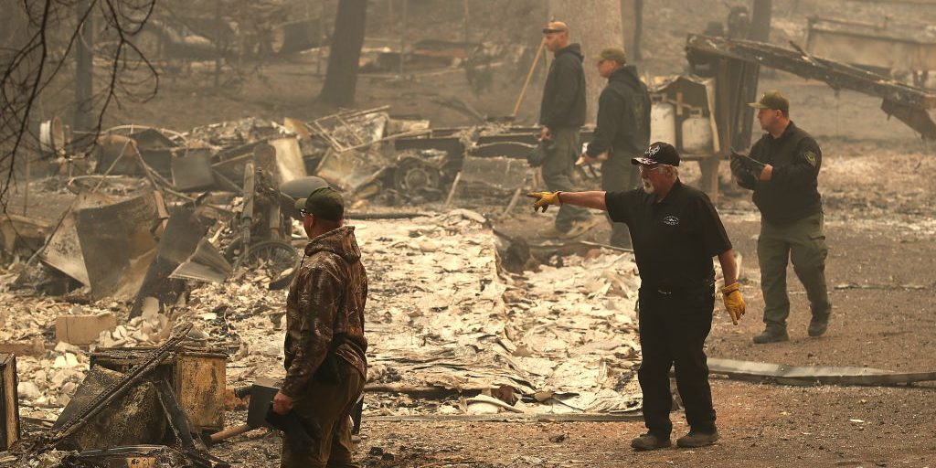California wildfire levels town, sparks county crime wave and housing shortage