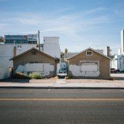 Run-down houses in an urban neighborhood.