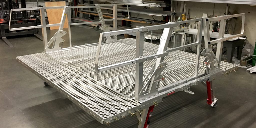 Bricking Solutions' new Rolling  Work Platform increases productivity