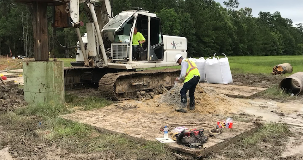 Dewatering the Sabine River Pipeline tunnel sites