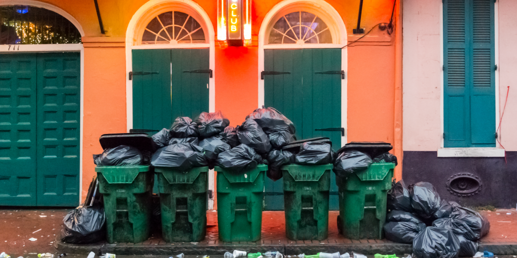 New Orleans sanitation workers protesting
