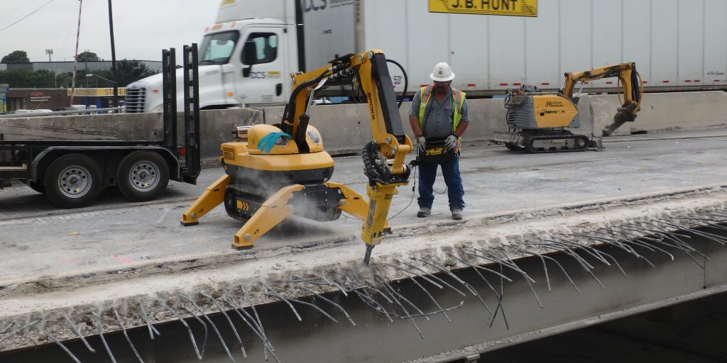 Using high-tech demolition to increase productivity and safety in bridge work