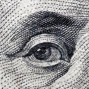 100 dollar bill close up