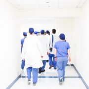 Group of doctors walking