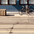 curb and bicycle