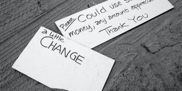 Signs begging for change