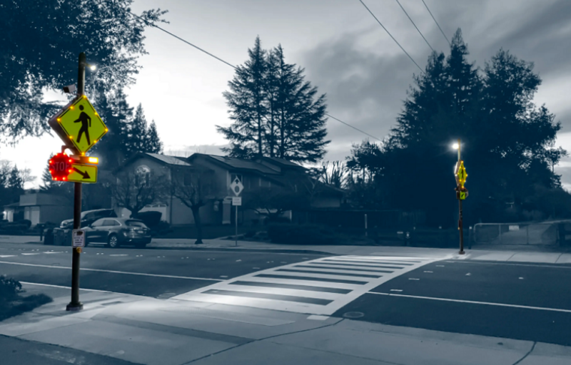 California town enhances safety where vehicle and pedestrian traffic intersect