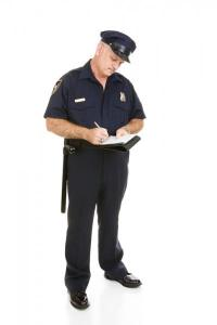 Stock photo of a police officer