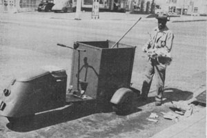 Photo of a motorized push cart in San Diego