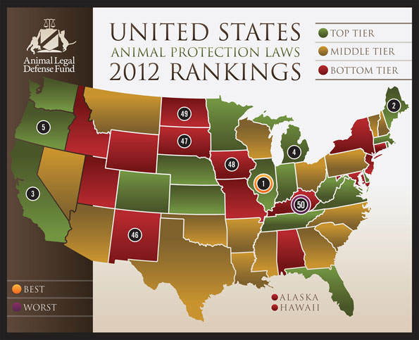 Animal Legal Defense Fund's 2012 U.S. Animal Protection Laws Rankings
