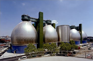 Newtown Creek's giant egg-shaped digesters