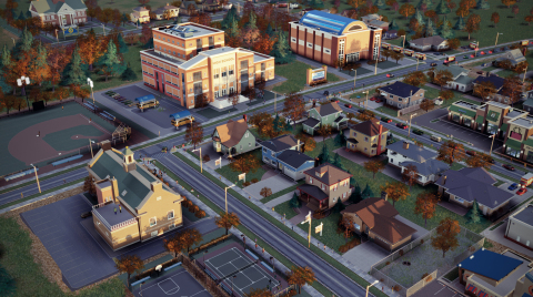 Video game to simulate/teach urban planning – American City